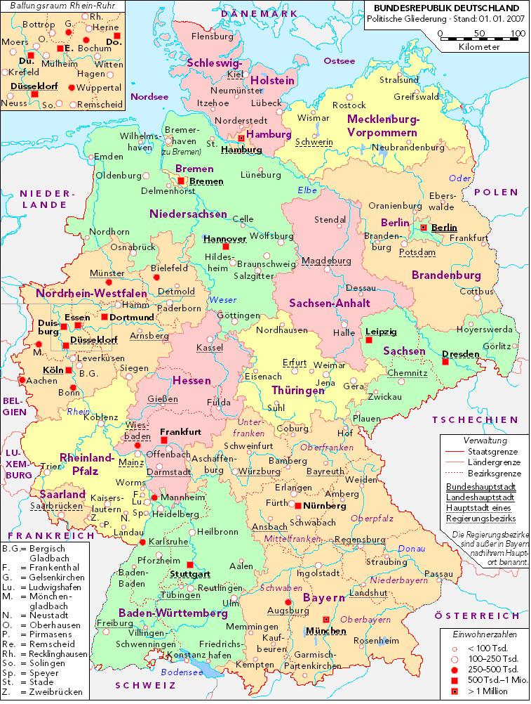 ländergrenzen deutschland karte Deutschlandkarte | Der Weg