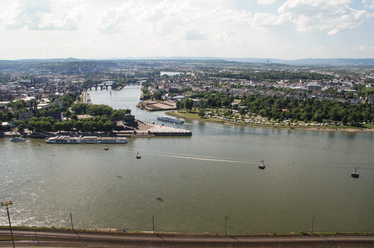 Koblenz - Deutsches Eck (Bild: Der Weg)