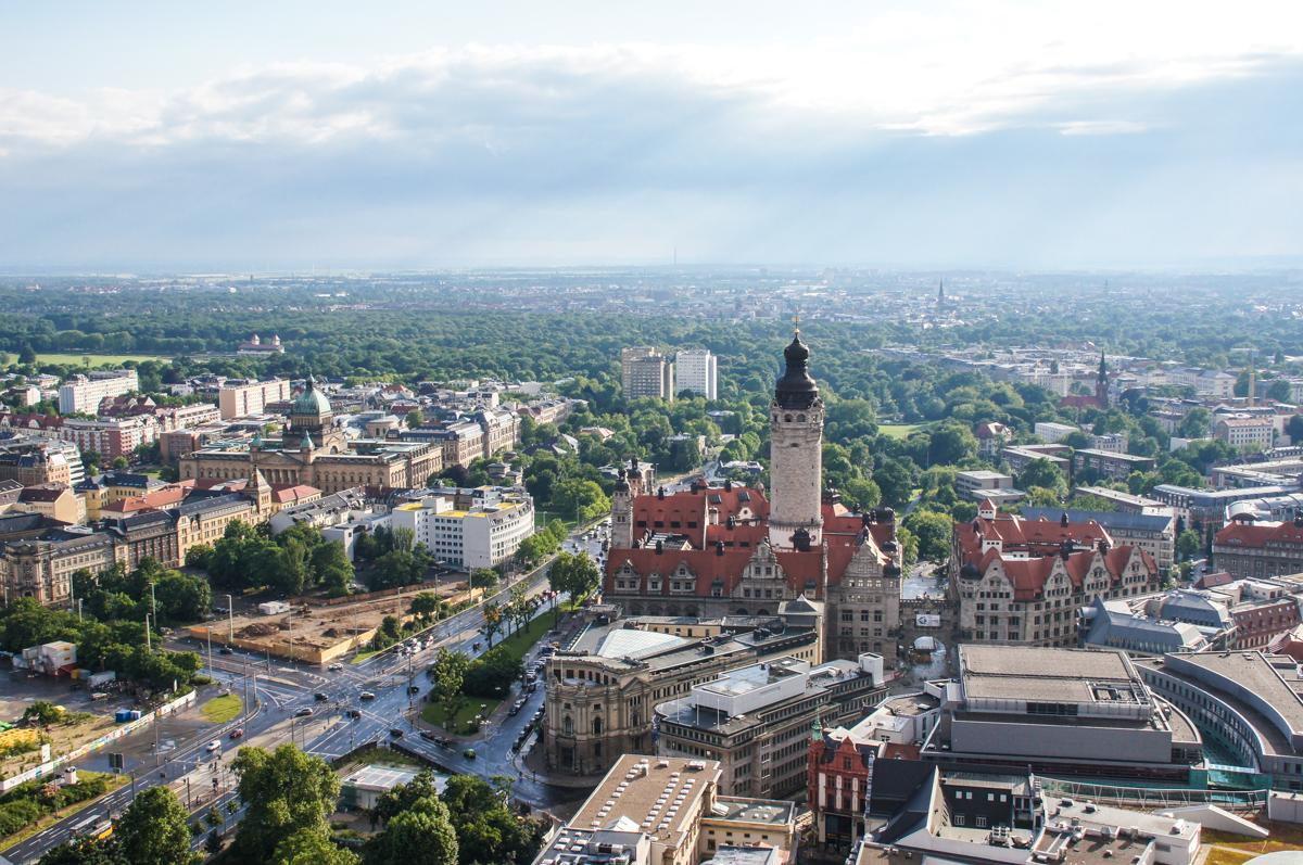 Leipzig Blick vom City-Hochhaus (Bild: Der Weg)