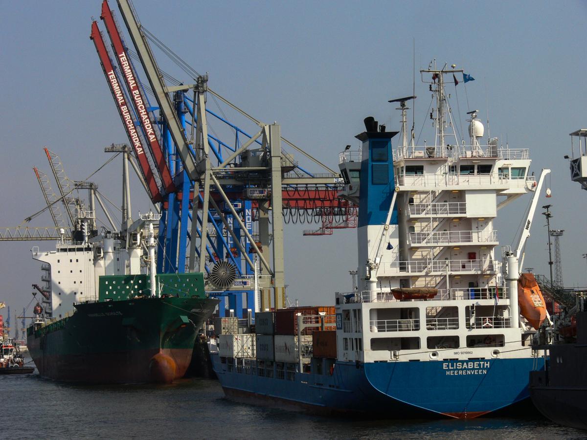 Hamburg Containerhafen (Bild: Der Weg)