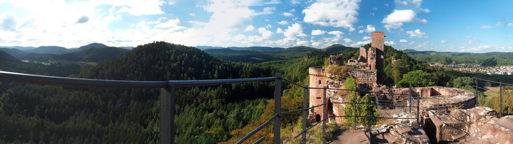 Pfätzler Wald Blick von Ruine Altdahn (Bild: Der Weg)