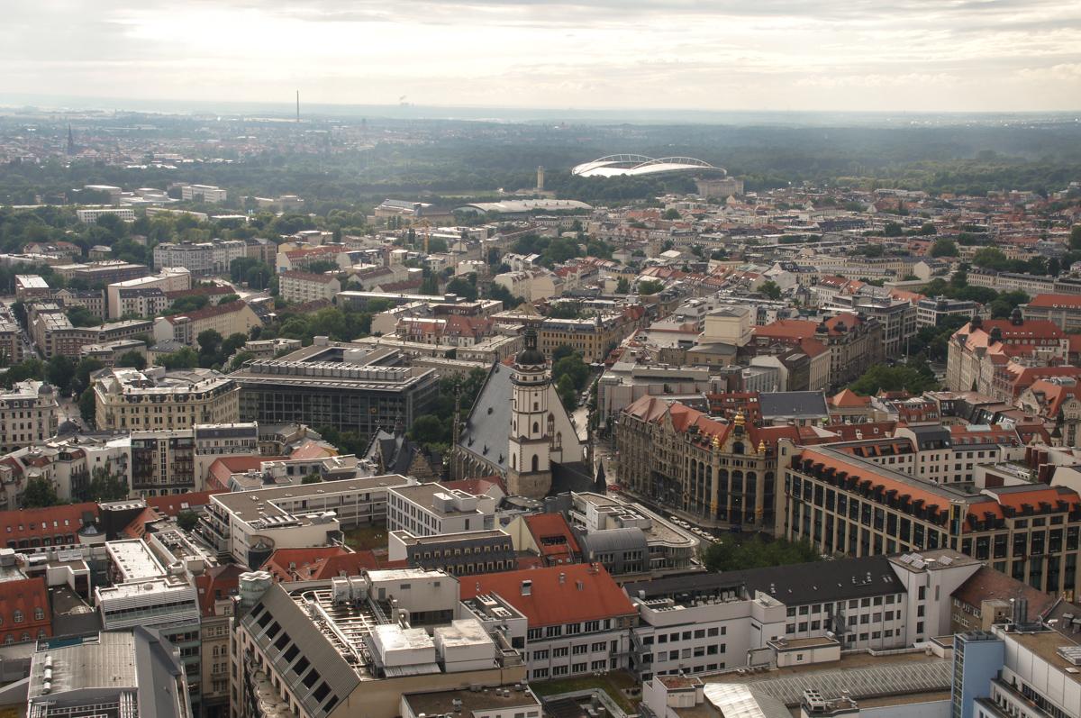 Leipzig von oben (Bild: Der Weg )